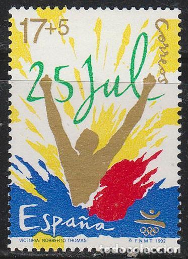 EDIFIL Nº 3214, OLIMPIADA DE BARCELONA'92, VICTORIA, NUEVO *** (Sellos - España - Juan Carlos I - Desde 1.986 a 1.999 - Nuevos)