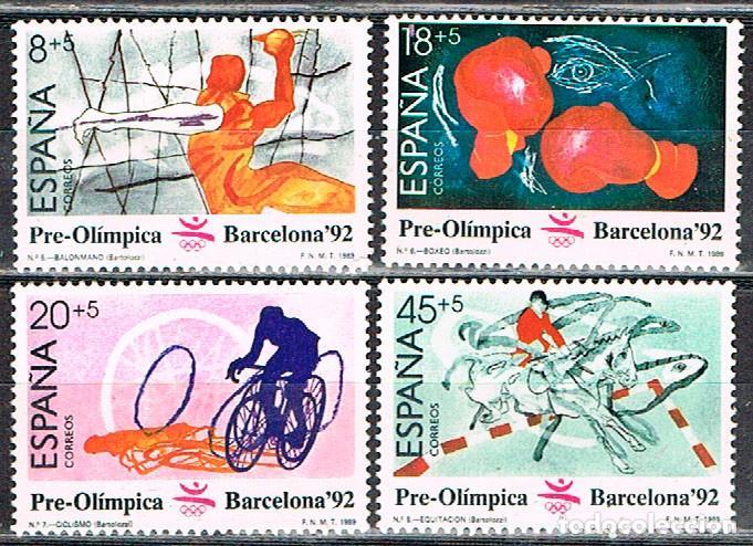 EDIFIL 2994, JUEGOS OLIMPICOS BARCELONA, 2º SERIE PREOLIMPICA, NUEVO *** (SERIE COMPLETA) (Sellos - España - Juan Carlos I - Desde 1.986 a 1.999 - Nuevos)