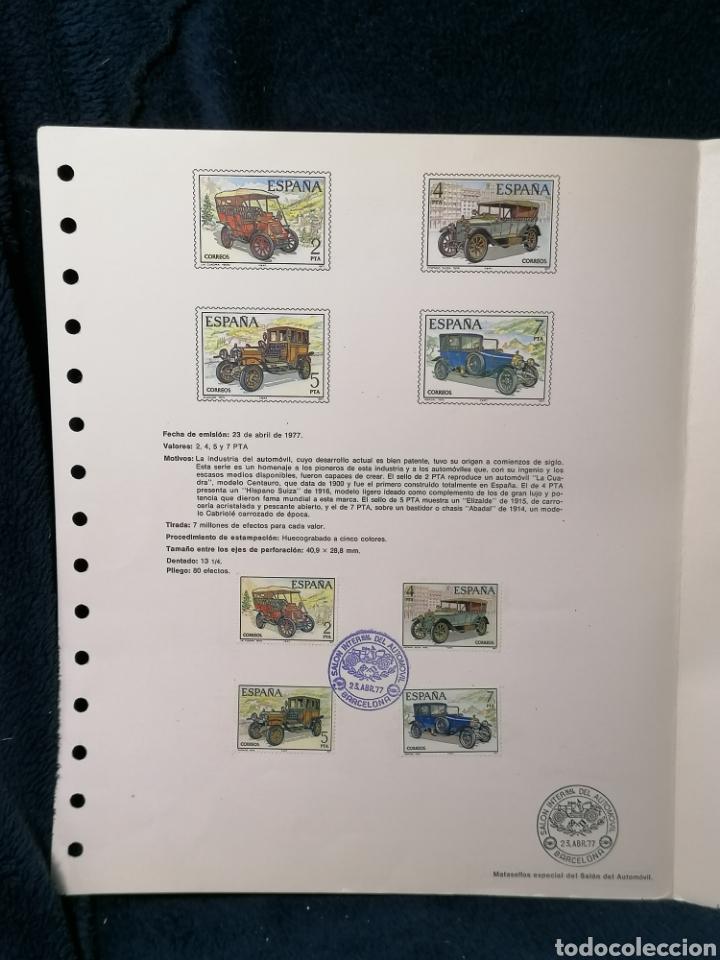 Sellos: España sellos Automóviles Expo Automóvil 1977 - Foto 4 - 224502487