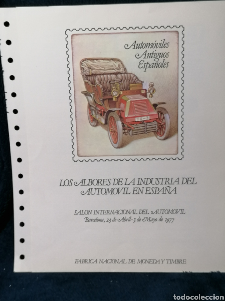 Sellos: España sellos Automóviles Expo Automóvil 1977 - Foto 2 - 224502487