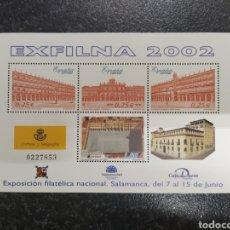 Sellos: ESPAÑA 2002 HOJA BLOQUE ESFILNA. Lote 224620441