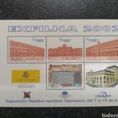Sellos: ESPAÑA 2002 HOJA BLOQUE ESFILNA 20002. Lote 224622241