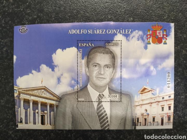 ESPAÑA 2013 HOJA BLOQUE ADOLFO SUÁREZ (Sellos - España - Juan Carlos I - Desde 2.000 - Nuevos)