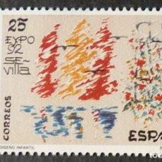 Francobolli: ESPAÑA 1992 EDIFIL 3153 DISEÑO INFANTIL MNH. Lote 224658525