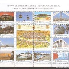 Sellos: SELLOS DE ESPAÑA AÑO 1992 HB NUEVAS EXPO UNIVERSAL SEVILLA. Lote 224764652