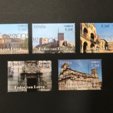 Sellos: EDIFIL 4691-4695 TODOS CON LORCA 2012, USADOS, PERFECTO ESTADO, SIMILARES A LOS DE LA FOTO. Lote 263051600