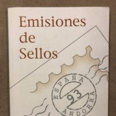 Sellos: EMISIONES DE SELLOS CORREOS Y TELÉGRAFOS ESPAÑA ANDORRA 1993. COMPLETO.. Lote 224983530