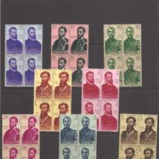 Sellos: SELLOS DE ESPAÑA AÑO 1960 FORJADORES DE AMÉRICA SELLOS NUEVOS** EN BLOQUE DE 4. Lote 225279670
