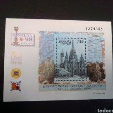 Sellos: EDIFIL 3557. 1998, EXPOSICIÓN FILATÉLICA NACIONAL EXFILNA 98. NUEVO.. Lote 225711455