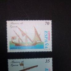 Sellos: EDIFIL 3540/3541. 1998, BARCOS DE ÉPOCA. NUEVOS.. Lote 225865217