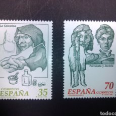 Sellos: EDIFIL 3538/3539. 1998, LITERATURA ESPAÑOLA. PERSONAJES DE FICCIÓN.. Lote 225865807