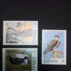 Sellos: EDIFIL 3614/3616. 1999, FAUNA ESPAÑOLA EN PELIGRO DE EXTINCIÓN.. Lote 225881670