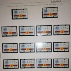 Sellos: ESPAÑA 1992 MADRID 92 ETIQUETAS KLUSSENDORF ATM - 18 VALORES TARIFAS POSTALES 1993 CON NUMERO. Lote 225947445