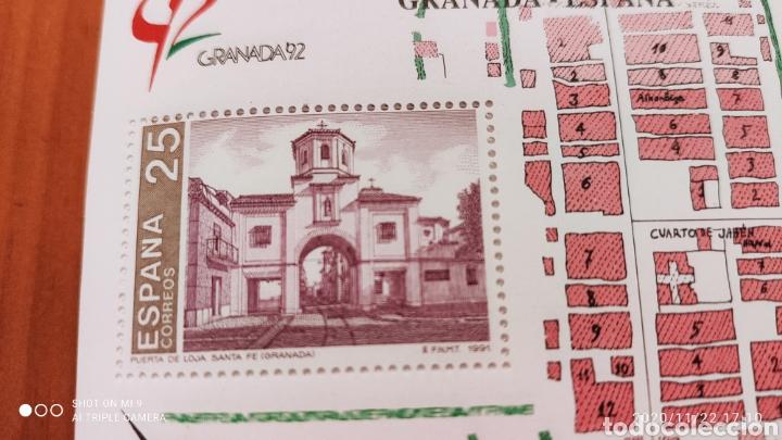 Sellos: 100 HOJAS BLOQUE, GRANADA EXPOSICIÓN MUNDIAL DE FILATELIA, 1992, ÚNICO, VER - Foto 2 - 226054615