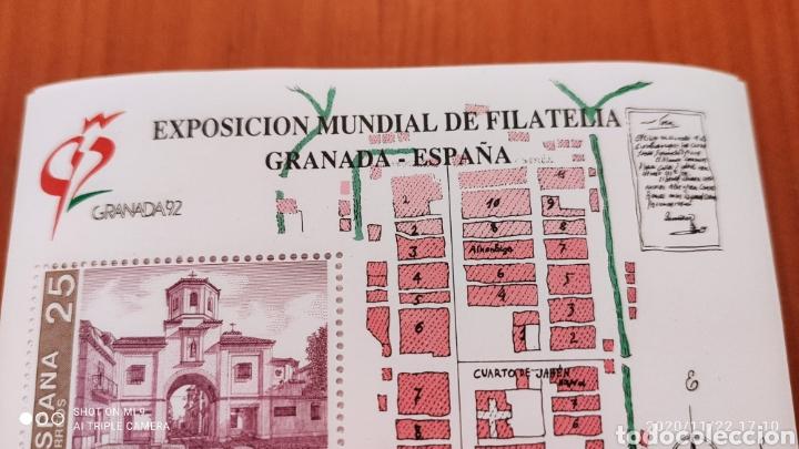 Sellos: 100 HOJAS BLOQUE, GRANADA EXPOSICIÓN MUNDIAL DE FILATELIA, 1992, ÚNICO, VER - Foto 3 - 226054615