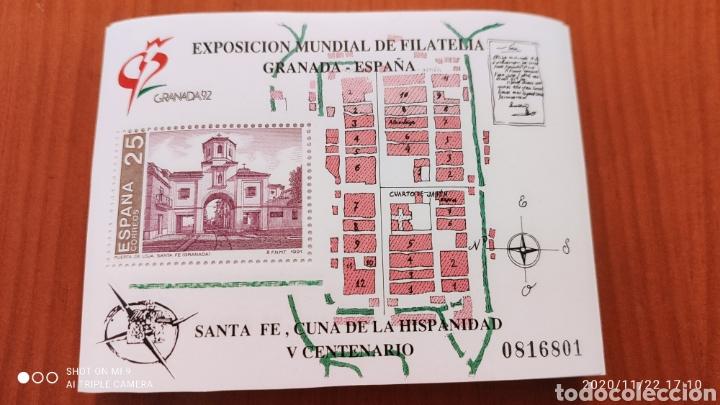 100 HOJAS BLOQUE, GRANADA EXPOSICIÓN MUNDIAL DE FILATELIA, 1992, ÚNICO, VER (Sellos - España - Juan Carlos I - Desde 1.986 a 1.999 - Nuevos)
