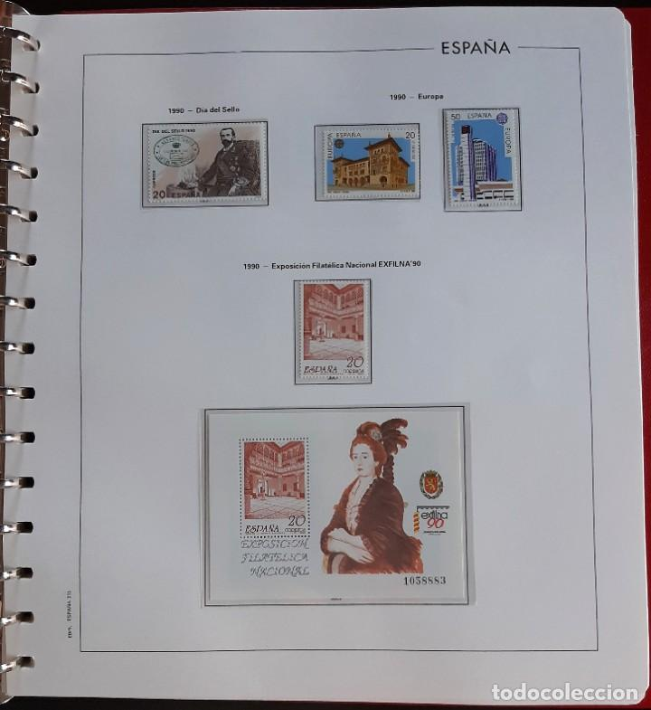 Sellos: SELLOS ESPAÑA 1990 COMPLETO NUEVO - HOJAS EDIFIL FILOESTUCHE TRANS - ED. 3047 A 3098 - Foto 2 - 226115031