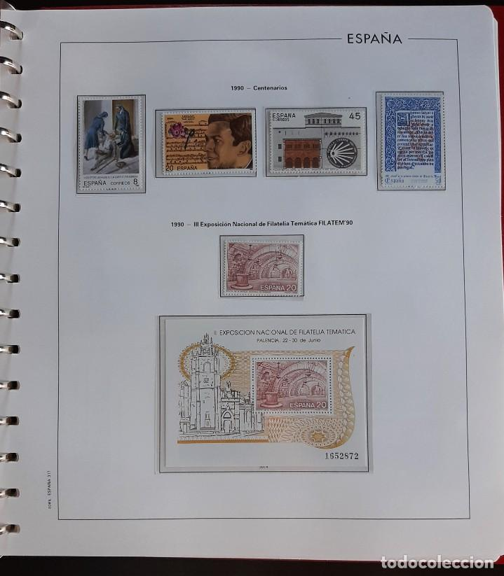 Sellos: SELLOS ESPAÑA 1990 COMPLETO NUEVO - HOJAS EDIFIL FILOESTUCHE TRANS - ED. 3047 A 3098 - Foto 4 - 226115031