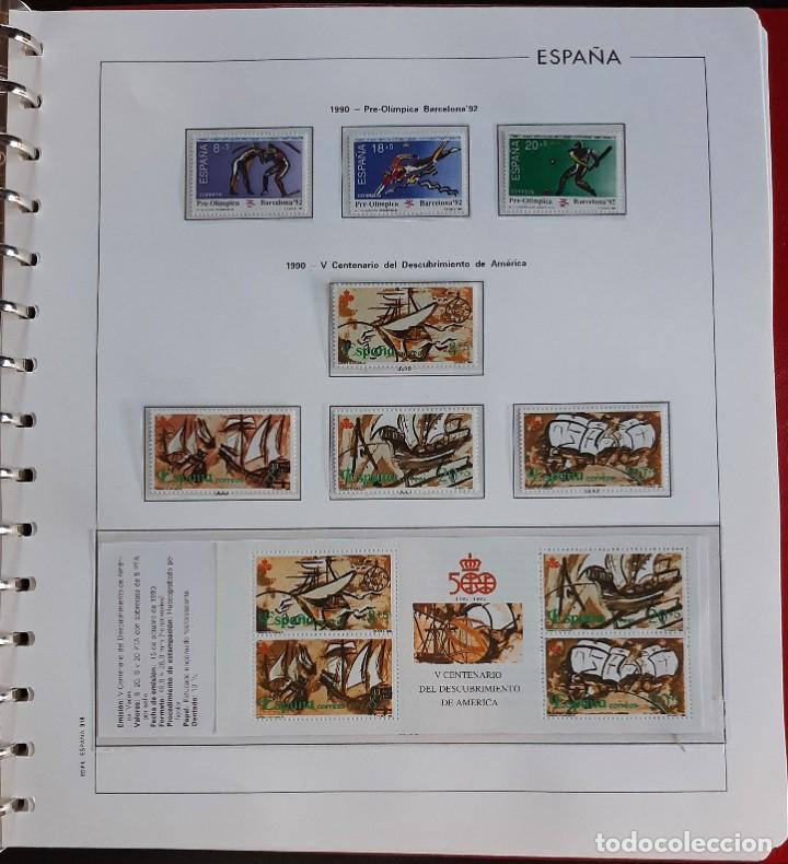 Sellos: SELLOS ESPAÑA 1990 COMPLETO NUEVO - HOJAS EDIFIL FILOESTUCHE TRANS - ED. 3047 A 3098 - Foto 5 - 226115031