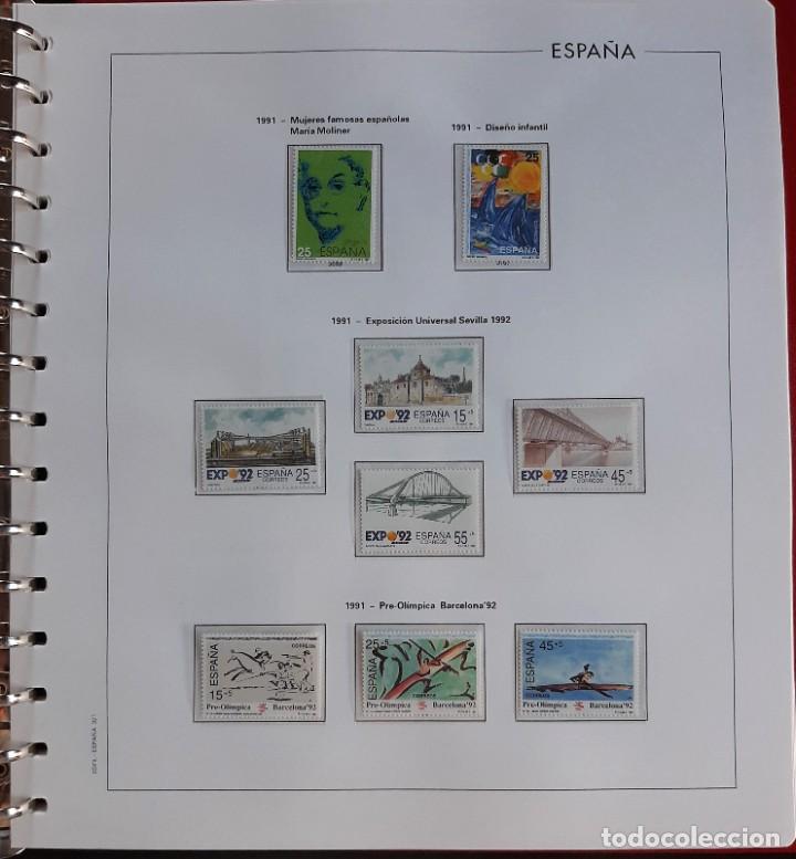 SELLOS ESPAÑA 1991 COMPLETO NUEVO - HOJAS EDIFIL FILOESTUCHE TRANS - ED. 3099 A 3151 (Sellos - España - Juan Carlos I - Desde 1.986 a 1.999 - Nuevos)
