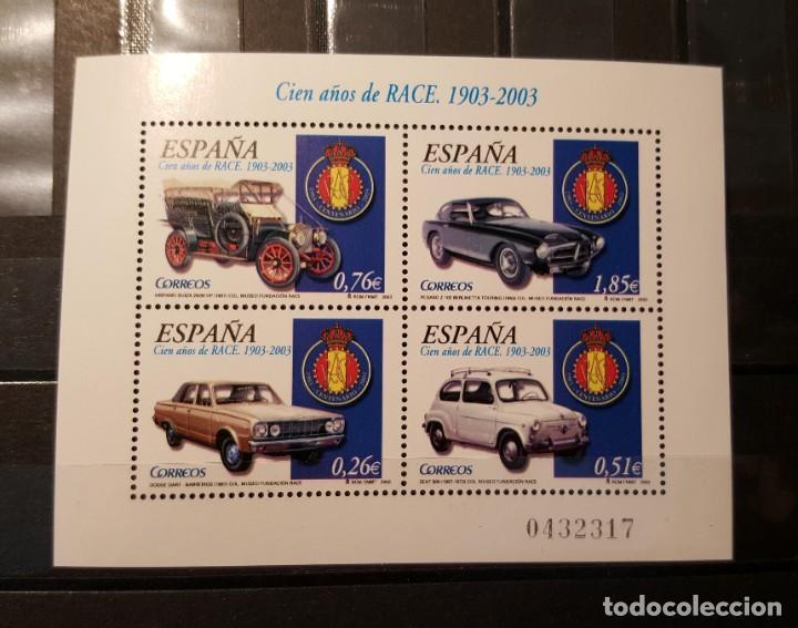 SELLO NUEVO. 100 AÑOS REAL AUTOMÓVIL CLUB DE ESPAÑA. 27 DE JUNIO DE 2003. EDIFIL SH 3996. (Sellos - España - Juan Carlos I - Desde 2.000 - Nuevos)