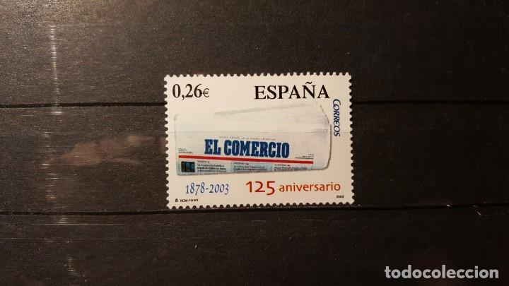 SELLO NUEVO. DIARIOS CENTENARIOS. EL COMERCIO. GIJÓN. 2 SEPTIEMBRE 2003. EDIFIL 4012. (Sellos - España - Juan Carlos I - Desde 2.000 - Nuevos)
