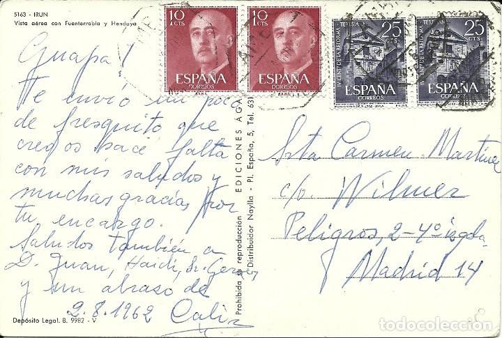 TARJETA POSTAL CIRCULADA ,MATASELLADA AMBULANTE NORTE EXPRES (Sellos - España - Juan Carlos I - Desde 2.000 - Cartas)