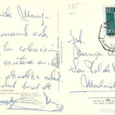 Sellos: TARJETA POSTAL CIRCULADA ,MATASELLADA AMBULANTE FERROVIARIO BARNA. PORT BOU. Lote 226431935