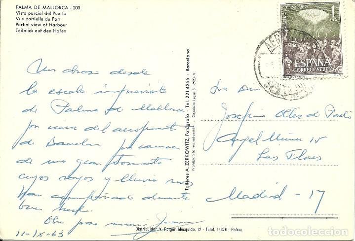 TARJETA POSTAL CIRCULADA ,MATASELLADA AEROPUERTO DE SON SAN JUAN EN PALMA DE MALLORCA (Sellos - España - Juan Carlos I - Desde 2.000 - Cartas)