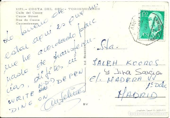 TARJETA POSTAL CIRCULADA MATASELLADA CON EL CUÑO AMBULANTE FERROVIARIO MADRID MÁLAGA (Sellos - España - Juan Carlos I - Desde 2.000 - Cartas)