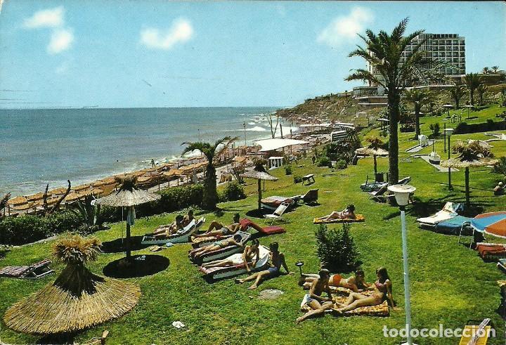 Sellos: Tarjeta postal circulada matasellada con el ambulante ferroviario Madrid Malaga - Foto 2 - 226434675