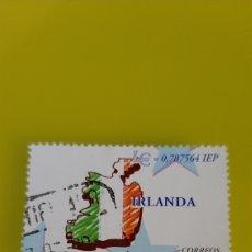 Selos: IRLANDA PAÍSES EURO EDIFIL 3640 USADO ESPAÑA 1999 MAPA FILATELIA COLISEVM NUMISMÁTICA. Lote 226943255