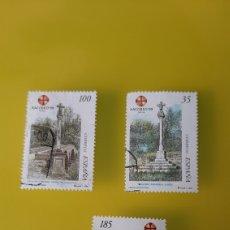 Selos: CRUCEIROS PARADELA LUGO PAMPLONA PALENCIA XACOVEO 1999 ARQUITECTURA ARTE RELIGIÓN USADOS. Lote 226951390