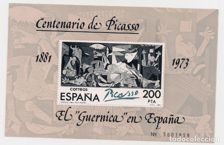 CENTENARIO DE PICASO - 200 PESETAS - AÑO 1981 - IMPRESO EN HOJITA NUMERADA (Sellos - España - Juan Carlos I - Desde 1.975 a 1.985 - Nuevos)