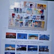 Timbres: SELLOS ESPAÑA AÑO 1992 COMPLETO (CON HOJITAS+CARNETS) . NUEVOS SIN CHARNELA. Lote 227809360