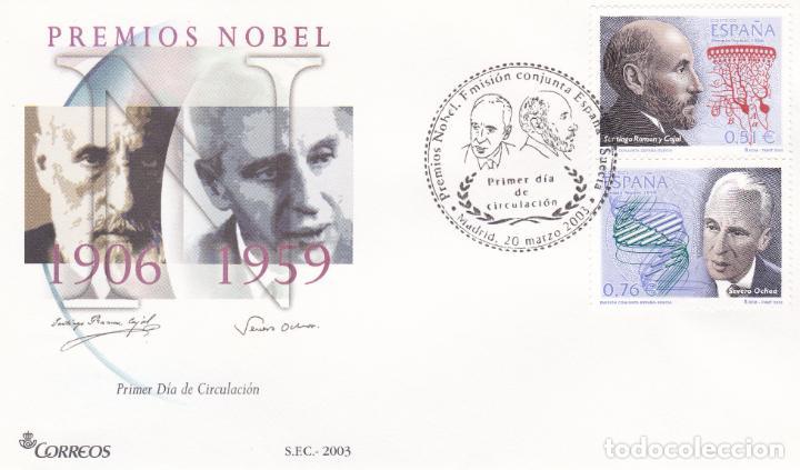 MADRID.- SOBRE DE PRIMER DIA CON MATASELLO PRIMER DÍA PREMIOS NOBEL CAJAL Y OCHOA 3965-65 (Sellos - España - Juan Carlos I - Desde 2.000 - Cartas)