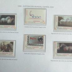 Sellos: 6 SELLOS ESPAÑA 2000 EXPOSICIÓN MUNDIAL CABALLOS CARTUJANOS 1999 SIN CIRCULAR. Lote 228597867