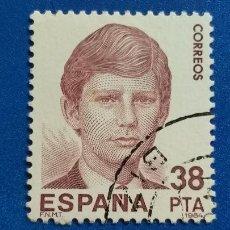 Sellos: USADO. AÑO 1984. EDIFIL 2752. EXPOSICION MUNDIAL DE FILATELIA. ESPAÑA 84. PRINCIPE FELIPE DE BORBON. Lote 229208130