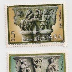 Sellos: AÑO 1978 - NAVIDAD - 21ª SERIE COMPLETA 2 VALORES - EDIFIL 2491/2492 - NUEVOS. Lote 246058220