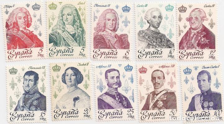 AÑO 1978 - REYES DE ESPAÑA CASA DE BORBÓN - SERIE COMPLETA 10 VALORES - EDIFIL 2496 AL 2505 - NUEVOS (Sellos - España - Juan Carlos I - Desde 1.975 a 1.985 - Nuevos)