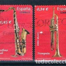 Sellos: ESPAÑA 2010 INSTRUMENTOS MUSICALES SERIE USADA EDIFIL 4549/4550. Lote 230268455