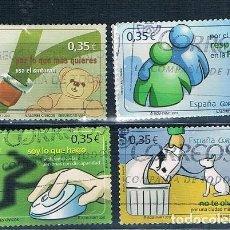 Sellos: ESPAÑA 2011 VALORES CIVICOS SERIE USADA EDIFIL 4639/4642. Lote 230428165