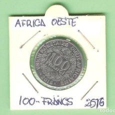 Timbres: AFRICA DEL OESTE. 100 FRANCS 2016.ACERO BAÑADO EN NÍQUEL. UC#2. Lote 230783575