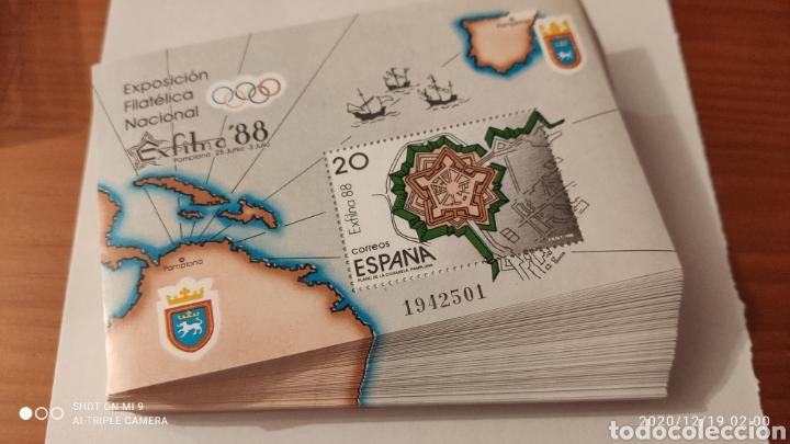 200 HOJAS BLOQUE, EXFILNA 88, LOTE ÚNICO, VER (Sellos - España - Juan Carlos I - Desde 1.986 a 1.999 - Nuevos)