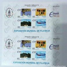 Timbres: ESPAÑA 1996 AVIACION Y ESPACIO'96 Nº 3429-3430-3431-3432. NUEVOS .2 HOJAS. Lote 231015655