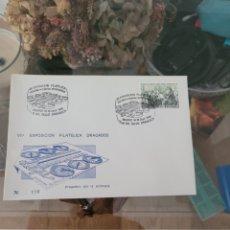Sellos: SOBRE NUMERADO CONMEMORATIVO VII EXPOSICIÓN FILATELIA DE DRAGADOS 1986 N116. Lote 231572735