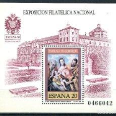Sellos: EXPOSICION FILATELICA NACIONAL EXFILNA 89 - HOJITA BLOQUE EDIFIL 3012. Lote 232135520