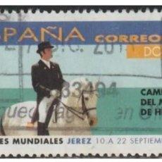 Sellos: ESPAÑA 2002 - JUEGOS ECUESTRES MUNDIALES - EDIFIL Nº 3900 - USADO. Lote 294014588