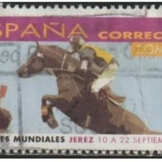 Sellos: ESPAÑA 2002 - JUEGOS ECUESTRES MUNDIALES - EDIFIL Nº 3903 - USADO. Lote 294015008