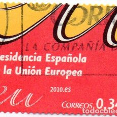Sellos: 2010 PRESIDENCIA ESPAÑOLA DE LA UNIÓN EUROPEA EDIFIL 4547 USADO. Lote 232663665